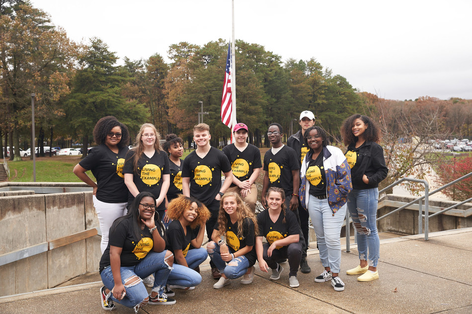 'Living the Example' Youth Ambassadors from Old Mill High School, Anne Arundel County, Maryland