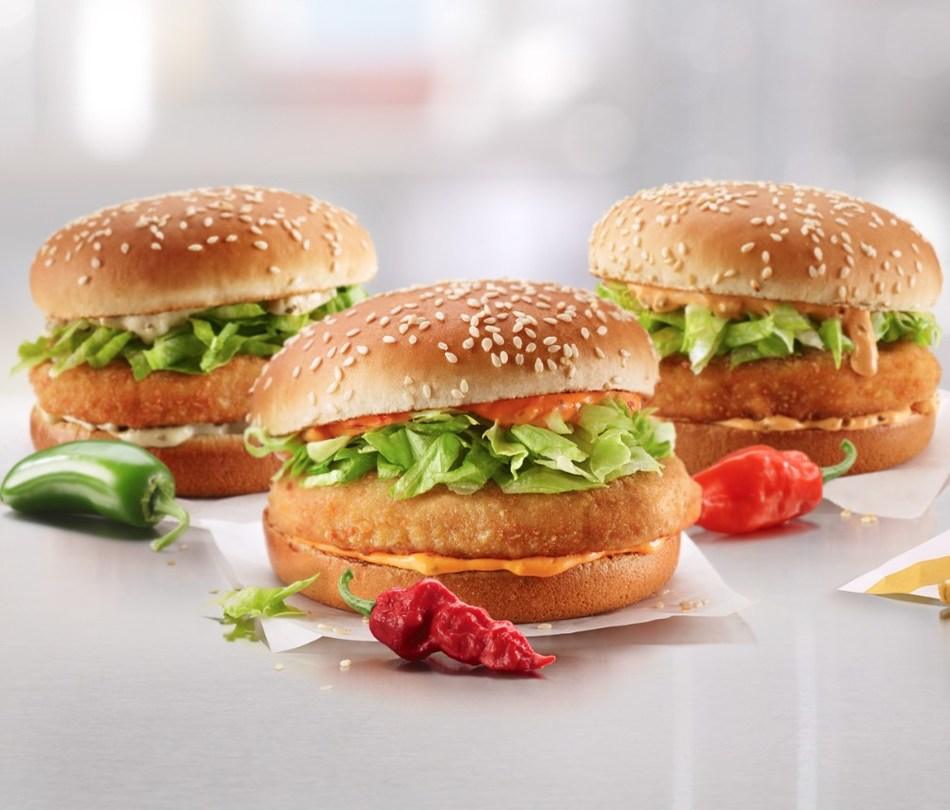 McDonald's Canada Turns up the Heat with the new Spicy McChicken® Sandwiches (CNW Group/McDonald's Canada)