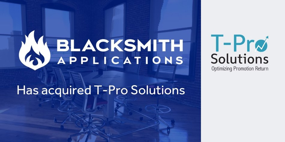 Blacksmith Applications Acquires T-Pro Solutions to Satisfy CPG Trade Optimization Demands.