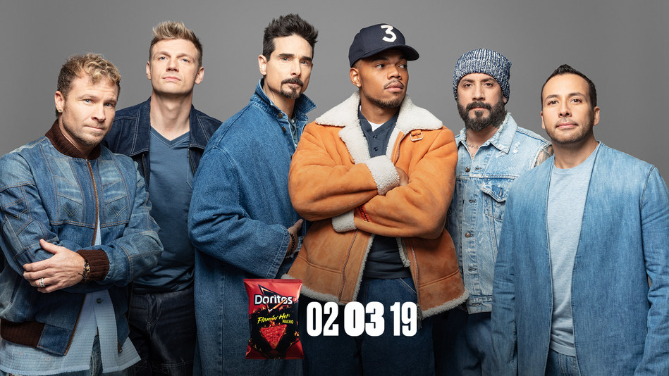 """Chance the Rapper and the Backstreet Boys remix """"I Want It That Way"""" for Doritos Super Bowl LIII Commercial"""