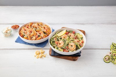 Noodles & Company introduces limited-time only shrimp dishes including Zucchini Shrimp Scampi and Penne Rosa with Shrimp.
