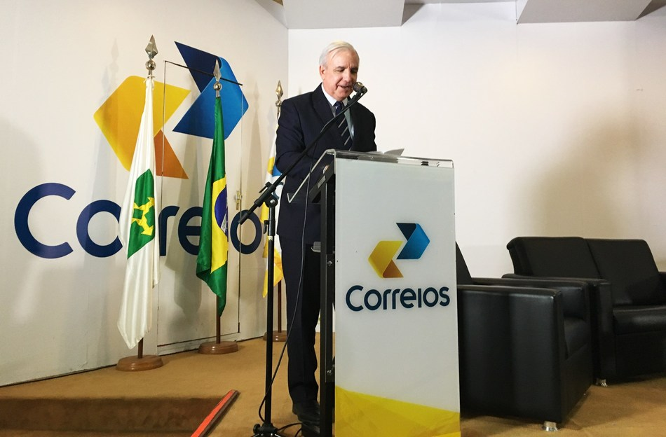 Miami-Dade County Mayor Carlos A. Gimenez speaks at the Compra Fora announcement in Brasilia on January 29.