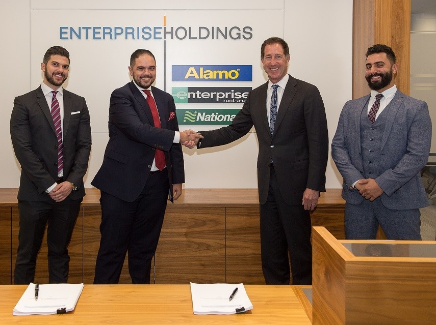From left to right: Kareem Shaheen, Executive Partner at Premier Auto Rentals; Mohammad Shaheen, Chief Executive Officer at Premier Auto Rentals; Peter Smith, Vice President of Global Franchising at Enterprise Holdings; and Mohammed Hamza, Regional Rental Manager EMEA Franchising at Enterprise Holdings.