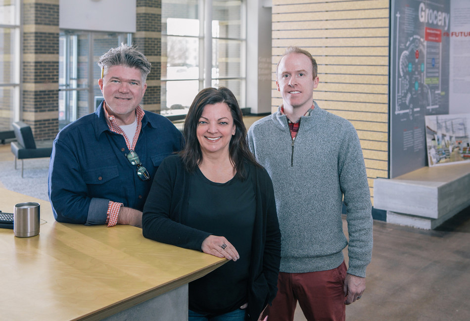 From left to right: Brian Seitz (Senior Vice President, Environments Design), Paula Katz (Senior Creative Director, Brand Communications and Visual Merchandising) and Andy House (Creative Director, Retail Environments).