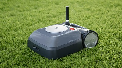 The iRobot Terra™ introduces cutting-edge navigation technology and a unique wireless beacon system for a more intelligent robot lawn mower.