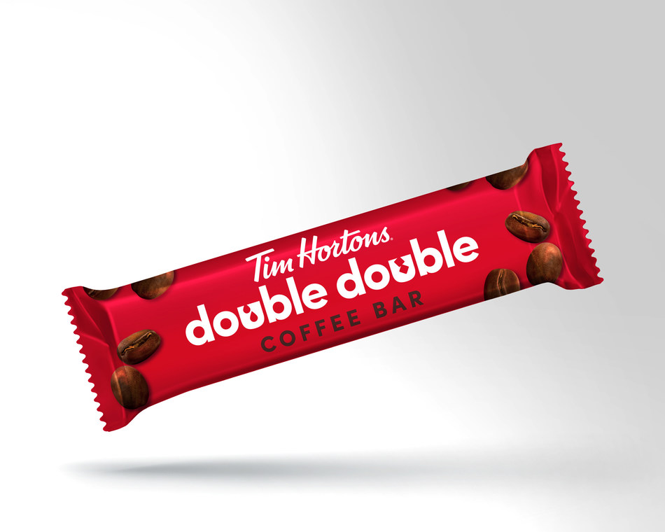 An edible Double Double™  that can fit in your pocket! The new Tim Hortons Coffee Bar has a smooth and silky texture and is great for both coffee and non-coffee drinks alike. (CNW Group/Tim Hortons)