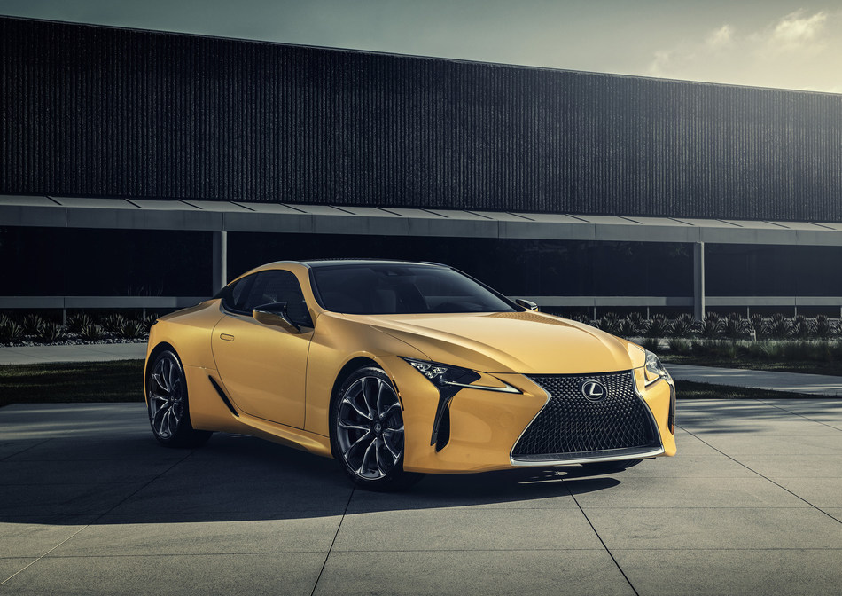 The limited edition 2019 LC 500 Inspiration, which features vibrant Flare Yellow paint, is making its first public appearance at the Chicago Auto Show.