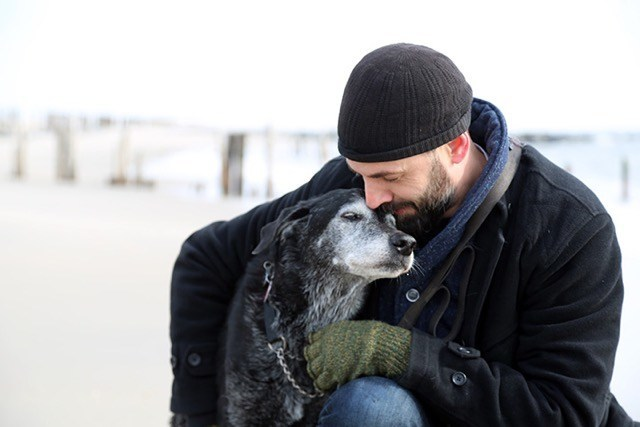 Podcast host D.S. Moss with his best friend Cleetus on their final day together