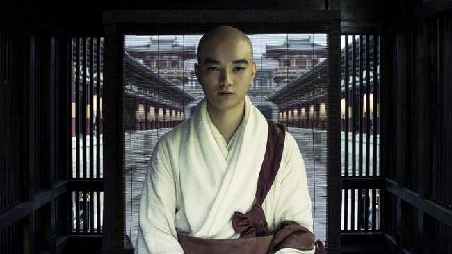 Japanese monk, Kukai (Shota Sometani) in a scene from Chen Kaige's Legend Of The Demon Cat