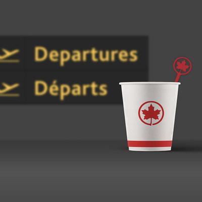 Air Canada réduira l''utilisation des plastiques à usage unique en commençant par l''élimination des bâtonnets mélangeurs en plastique à l''été 2019 (Groupe CNW/Air Canada)