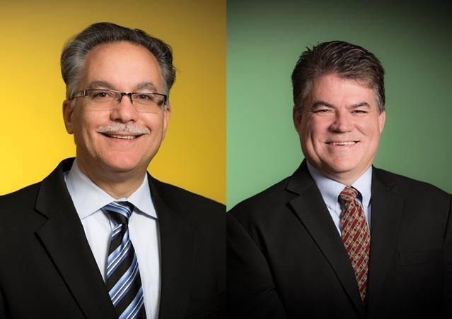 Effective Feb. 1, Demetri Zervoudis (left) will succeed Rod Herrick (right) as senior vice president and site manager at the Covestro Baytown Industrial Park.