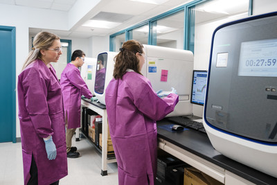 QPS analysts perform TaqMan analysis using the QuantStudio instruments in the Analysis Room of QPS's expanded Gene and Sequence Analysis suite in Newark, Delaware. This analysis can be used to quantitate vector sequences, measure copies of mRNA drugs, or determine the relative levels of gene expression of downstream targets.