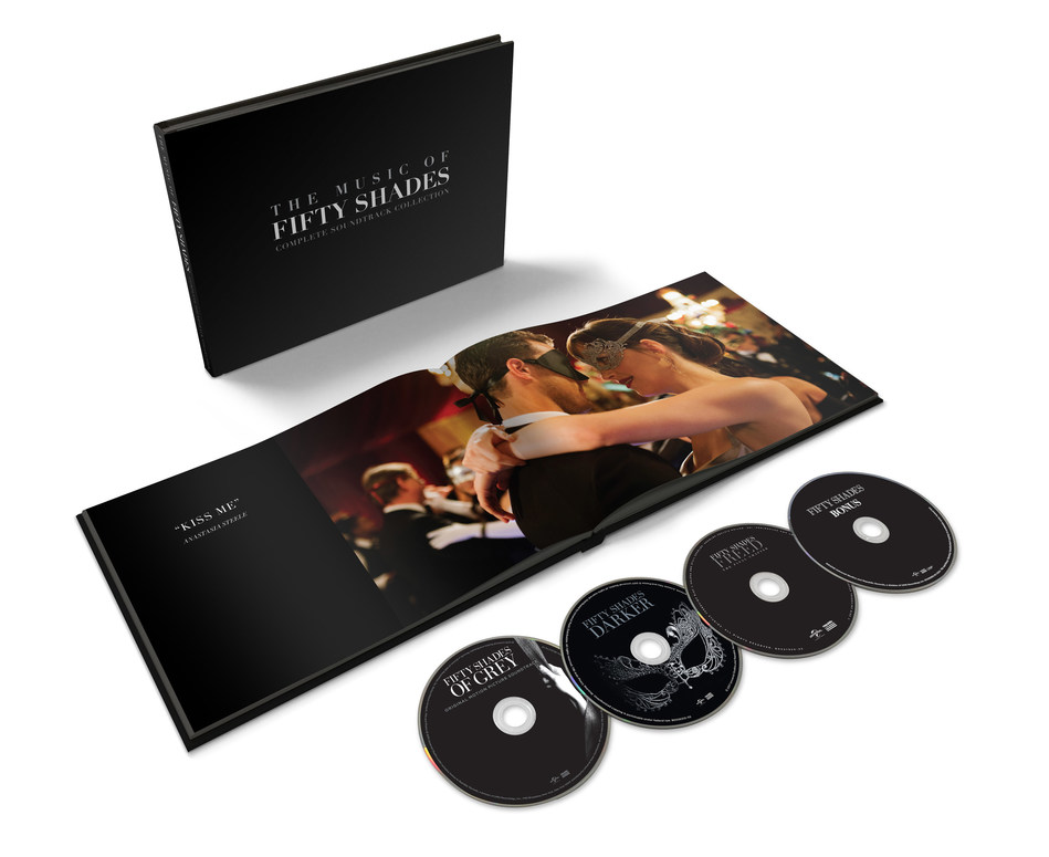 On February 14, UMe brings together the individually released soundtracks for one of the most successful film trilogies of all time as The Music Of Fifty Shades – Complete Soundtrack Collection. This deluxe 4CD, 76-track box set includes all three film soundtracks — 2015's Fifty Shades Of Grey, 2017's Fifty Shades Darker, and 2018's Fifty Shades Freed — plus a bonus disc featuring the Fifty Shades Of Grey Remixed album and more!