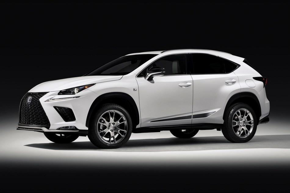 The 2019 Lexus NX features design touches with the Black Line Treatment, including exclusive Arctic White and Black contrast seats with matching key glove and mats.