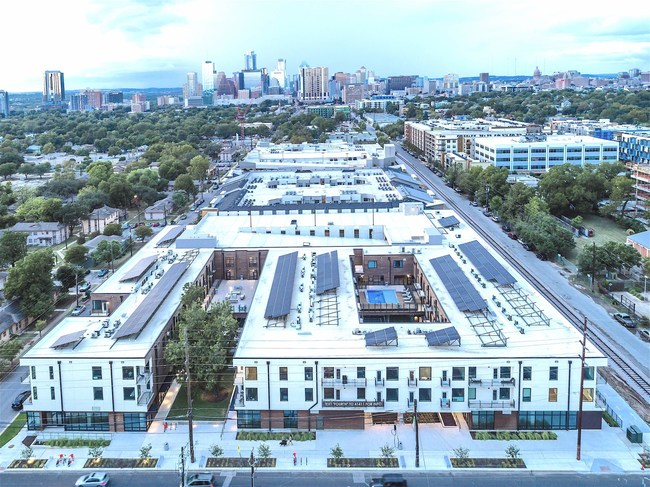 5-Star Austin Energy Green Building with 102-unit condos including 600 solar panels less than a mile to downtown Austin