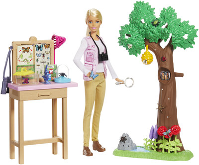 Barbie and National Geographic partner to create a new product line and content centered around exploration, science, conservation and research. The Barbie and National Geographic product line features career dolls and playsets highlighting occupations underrepresented by women and authenticated by an advisory council compromised of female National Geographic Explorers.