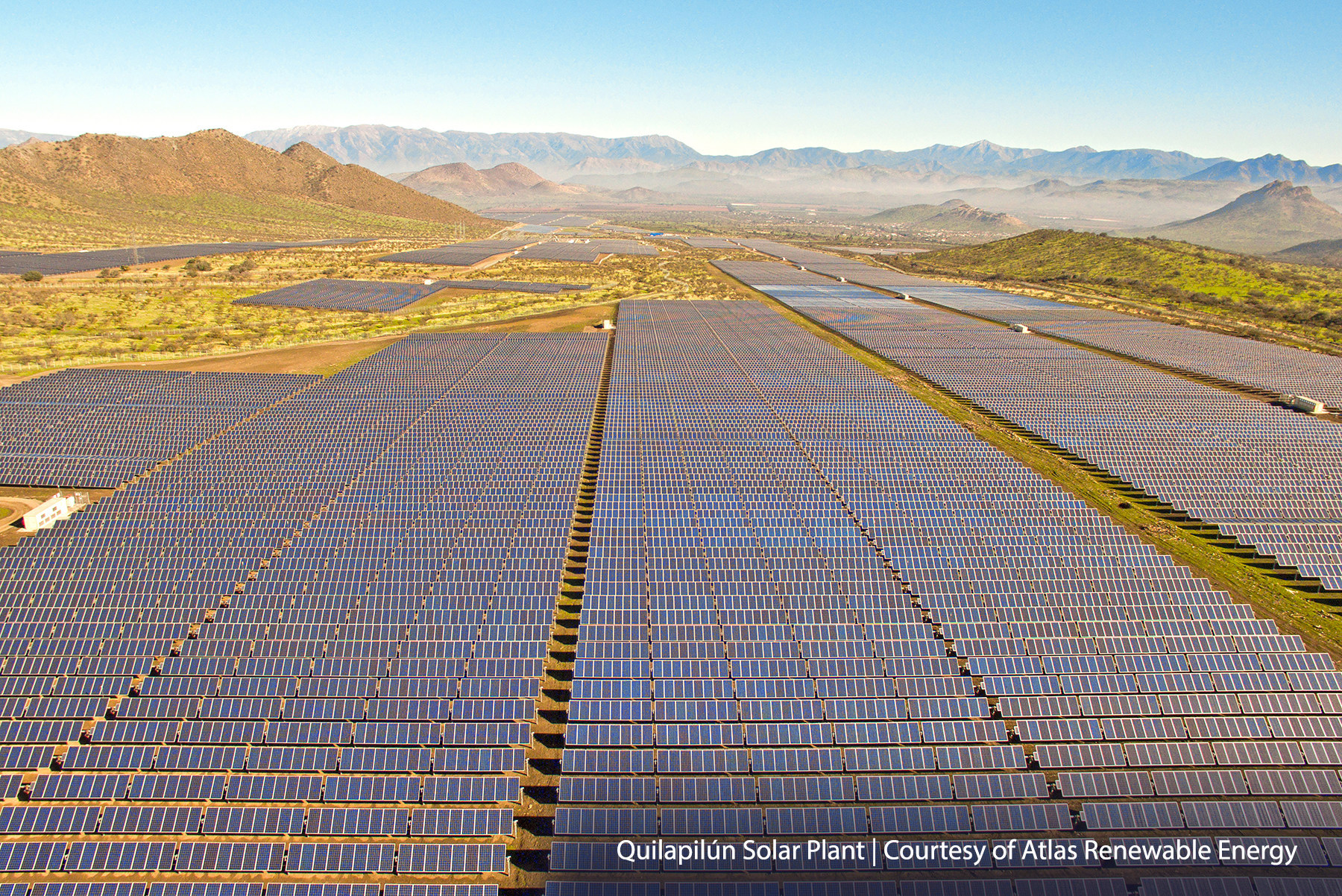 NEXTracker's NX Horizon smart solar tracker on Atlas Renewable Energy's solar plant in Quilapilun, Chile.