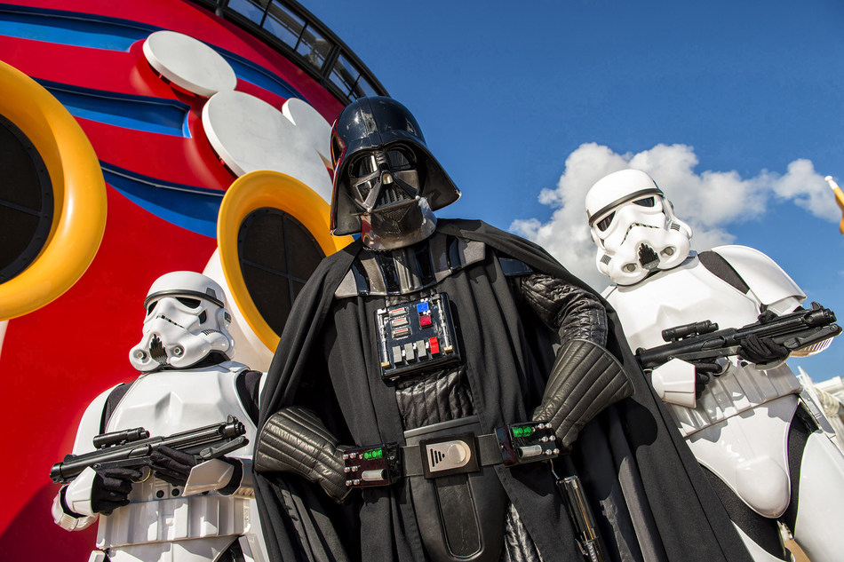 Disney Cruise Line guests can experience the legendary adventures and iconic characters from the Star Wars saga aboard a Disney Cruise Line ship and a day-long celebration, Star Wars Day at Sea. The event combines the power of the force, the magic of Disney and the excitement of cruising for an out-of-this-galaxy experience unlike any other. (Matt Stroshane, photographer)