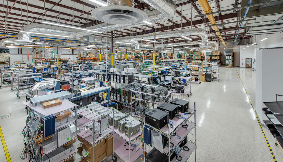 Contec Americas production floor. US-based manufacturing and integration facility in Melbourne, FL.