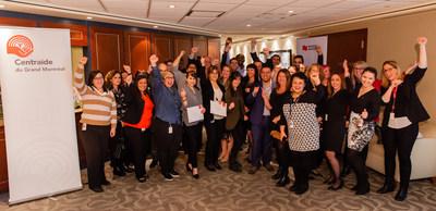 Les employés de la Banque Nationale célèbrent la 41e édition de la campagne au profit de Centraide United Way. Source : Sylvie-Ann Paré (Groupe CNW/Banque Nationale du Canada)