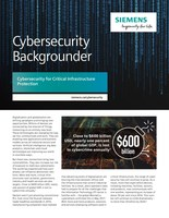 Siemens Cybersecurity Backgrounder English (CNW Group/Siemens Canada Limited)