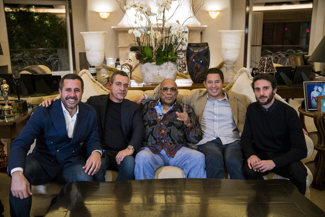 Rehegoo Music and Music Industry Icon Quincy Jones meet at his home in LA to discuss the details of their new joint business venture.