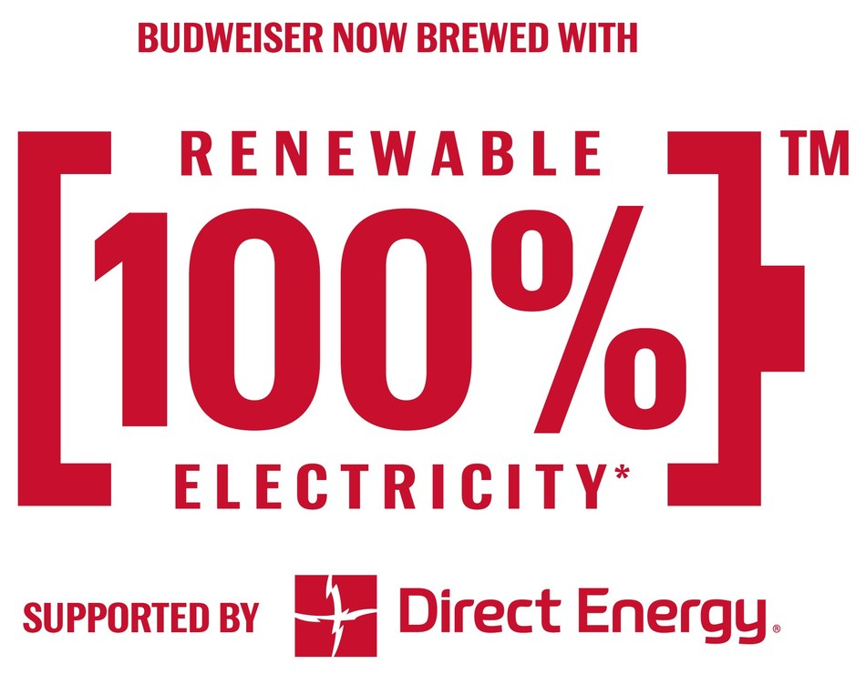 Budweiser Canada now brewed with 100% renewable electricity supported by Direct Energy (CNW Group/Budweiser Canada)