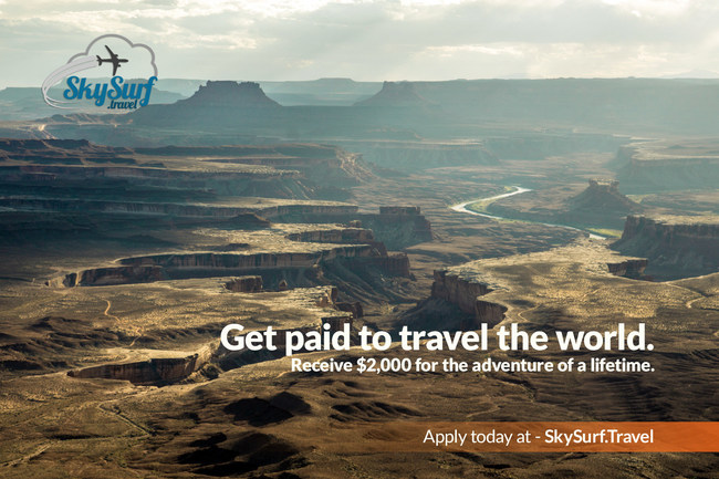 Get paid to travel the world. Receive $2,000 for an adventure of a lifetime.