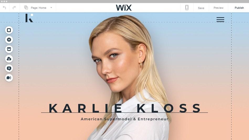 Karlie Kloss' website