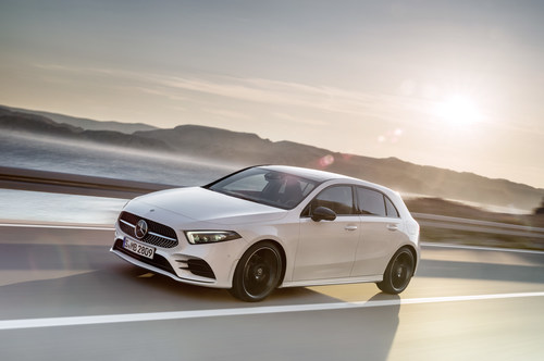 Standout passenger cars for the month included the new A-Class Hatch, which has been selling steadily since it was introduced to the Canadian lineup. (CNW Group/Mercedes-Benz Canada Inc.)