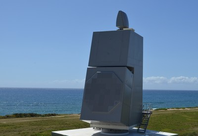 SPY-6 integrated air and missile defense radar installed at the U.S. Navy's Pacific Missile Range Facility in Kauai, Hawaii.