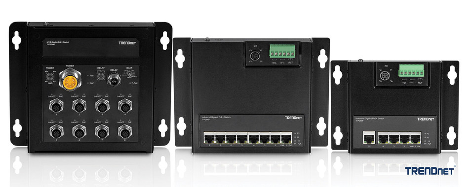 TRENDnet Rail Switch and TRENDnet Front Access Flat Switches
