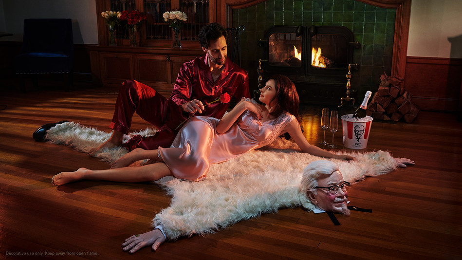 In its most romantic stunt ever, KFC launched a Reddit creativity competition for fans to win the ultimate date night package featuring a faux bearskin rug that looks like Colonel Harland Sanders, just in time for Valentine's Day.