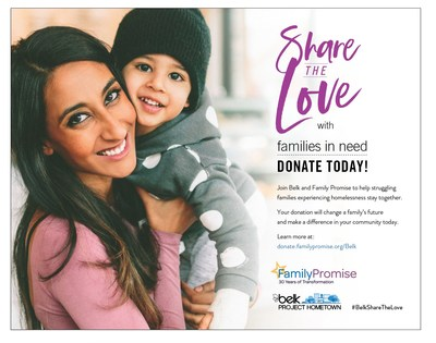 Belk donates $1 million and calls on customers to Share The Love with Family Promise
