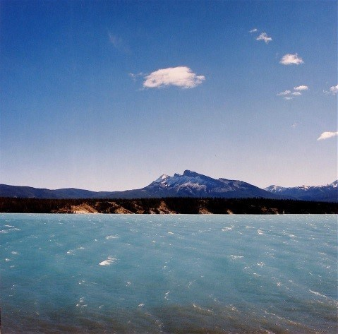 HUMAN NATURE, 2008; Abraham Lake, artificial lake formed by Big Horn Dam, Alberta, c-print, 76.2x76.2cm, by Marian Penner Bancroft (Vancouver, British Columbia) (CNW Group/Scotiabank)