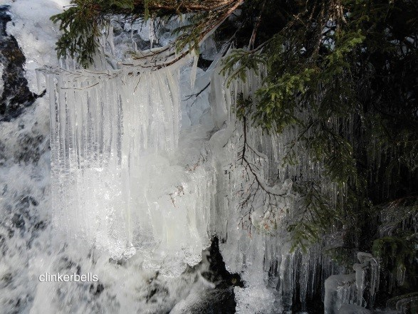 Excerpt from Clinkerbells, Blast Hole Pond River, Newfoundland, Winter 2012-2013, digital colour photograph with text, by Marlene Creates (Portugal Cove, Newfoundland and Labrador) (CNW Group/Scotiabank)