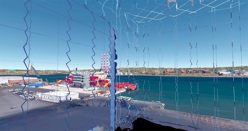Remote Sensing: Shipyard, 2017; 50.8 cm x 91.5 cm, by Robert Bean (Dartmouth, Nova Scotia) (CNW Group/Scotiabank)
