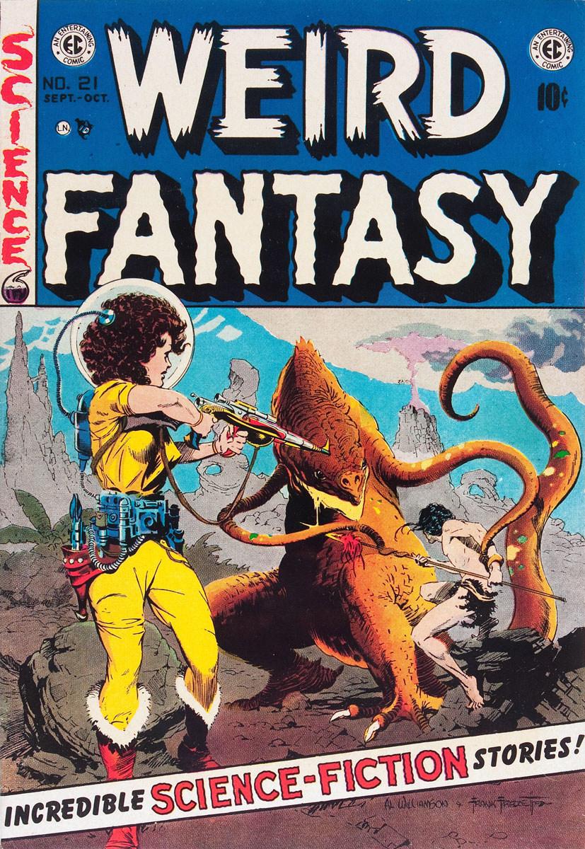 WEIRD FANTASY Cover Art by Al Williamson & Frank Frazetta (Courtesy: EC Comics)
