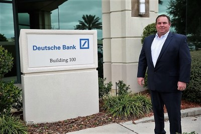 Warrior Sean Packer outside Deutsche Bank in Jacksonville, FL.