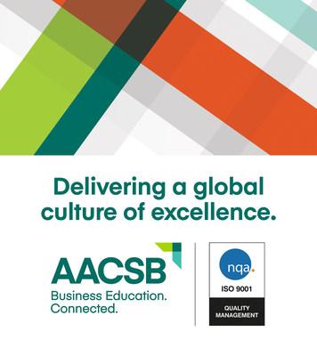 AACSB的认证质量管理体系获ISO 9001:2015认证