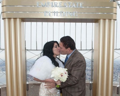 Empire State Building Announces Winners Of 25th Annual Valentine's Day Wedding Contest