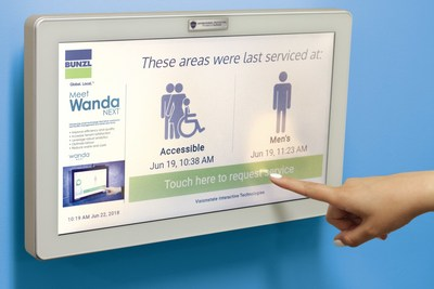 WandaNEXT restroom monitoring system (CNW Group/Bunzl Canada)
