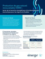Production de gaz naturel renouvelable (GNR) : levier de la transition énergétique et de développement économique pour les régions du Québec (Groupe CNW/Énergir)