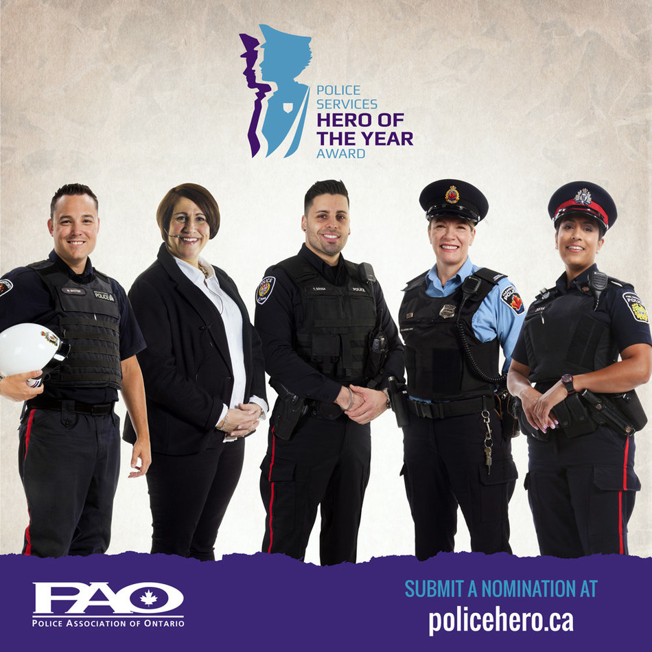 Nominate your police service hero at PoliceHero.ca (CNW Group/Police Association of Ontario)