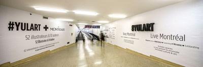 The works of the exposition Le Montréaler proudly exhibited at Montréal-Trudeau Airport. (CNW Group/Aéroports de Montréal)