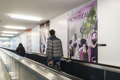 Les oeuvres du projet Le Montréaler fièrement exposées à Montréal-Trudeau. (Groupe CNW/Aéroports de Montréal)