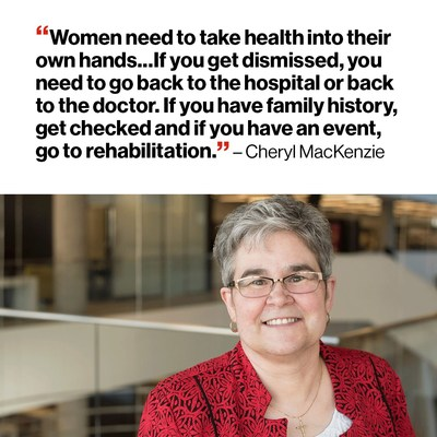 Cheryl MacKenzie, experienced a heart attack and a stroke (CNW Group/Heart and Stroke Foundation)