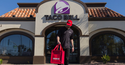 Taco Bell is announcing nationwide delivery available via Grubhub and, for a limited time, all Taco Bell orders over $12.00 come with free delivery.