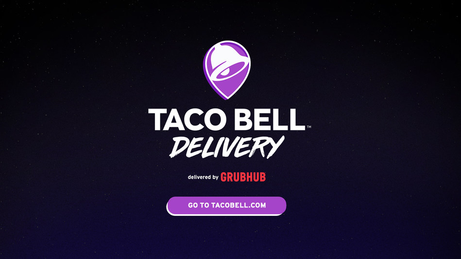 Fans with a Taco Bell craving can go to Grubhub.com, the Grubhub app or tacobell.com to find their nearest restaurant with delivery available and place their order.