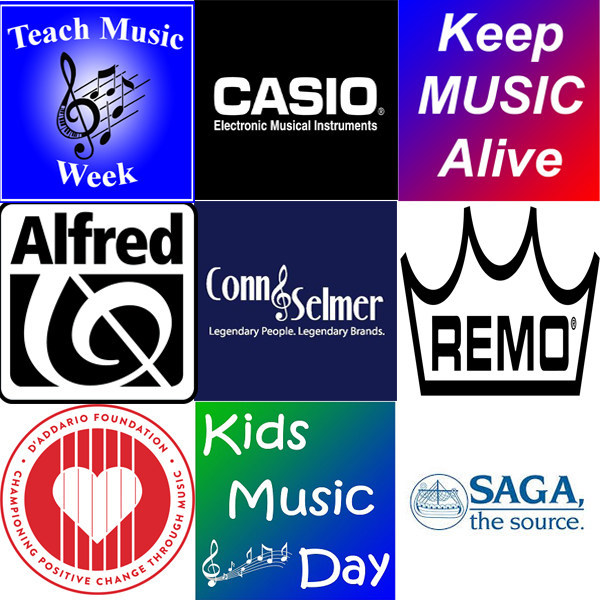 Special Thanks to our National Sponsors supporting Teach Music Week including Alfred Music, Casio EMI, Conn-Selmer, D'Addario Foundation, Remo and Saga Musical Instruments